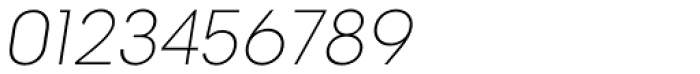 2030 Thin Italic Font OTHER CHARS