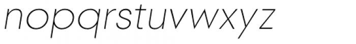 2030 Thin Italic Font LOWERCASE