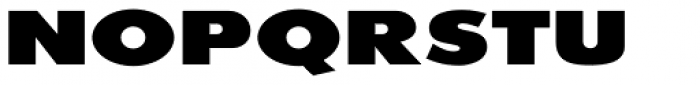 20th Century ExtraB Extended Font UPPERCASE