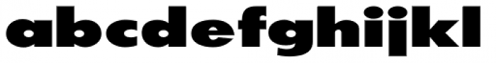 20th Century ExtraB Extended Font LOWERCASE