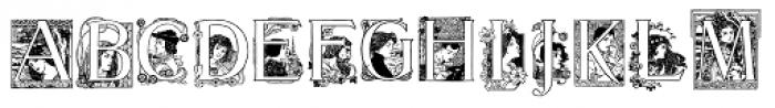20th Century German Font UPPERCASE
