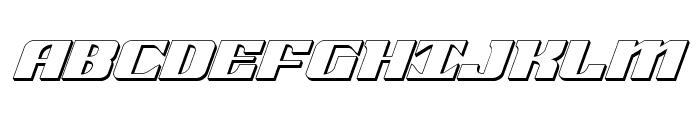 21 Gun Salute 3D Italic Font UPPERCASE