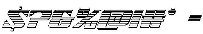 21 Gun Salute Chrome Italic Font OTHER CHARS