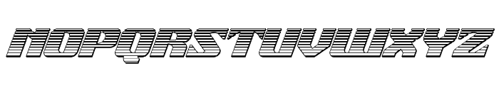 21 Gun Salute Chrome Italic Font UPPERCASE