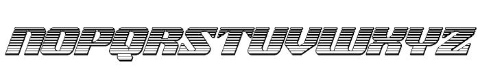 21 Gun Salute Chrome Italic Font LOWERCASE