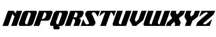 21 Gun Salute Condensed Italic Font UPPERCASE
