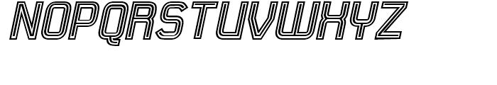 21st Outline Italic Font UPPERCASE