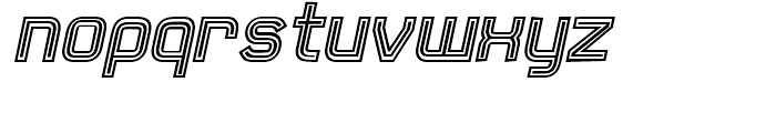 21st Outline Italic Font LOWERCASE