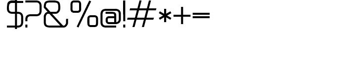 21st Regular Font OTHER CHARS