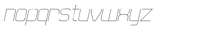 21st Super Fine Italic Font LOWERCASE