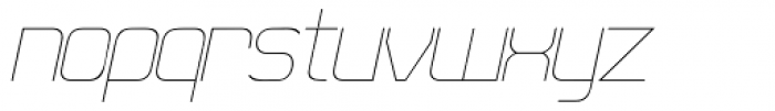21st SuperFine Italic Font LOWERCASE