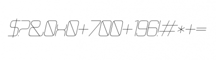 21st B Superfine Font OTHER CHARS