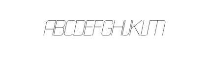 21st B Superfine Font UPPERCASE