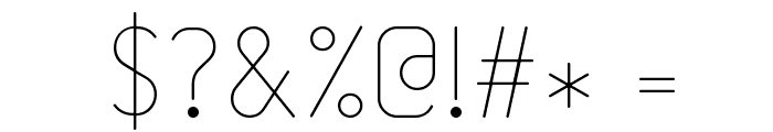 232MKSDRoundUltraLight Font OTHER CHARS