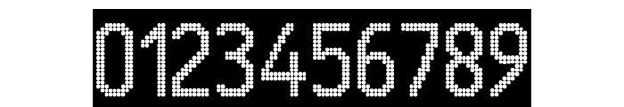 24 LED Modul Font OTHER CHARS