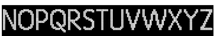 24 LED Modul Font UPPERCASE