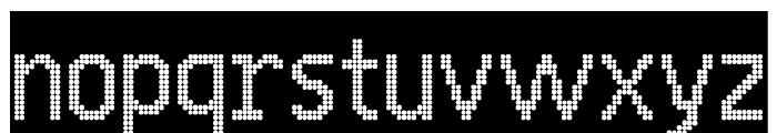 24 LED Modul Font LOWERCASE