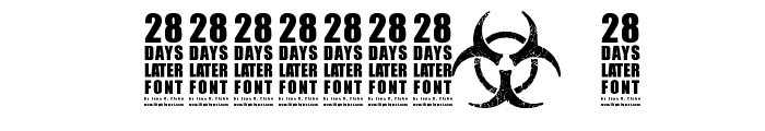 28 Days Later Font OTHER CHARS