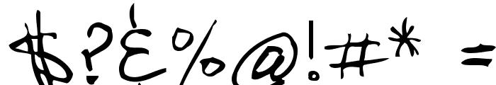 2Dumb Font OTHER CHARS