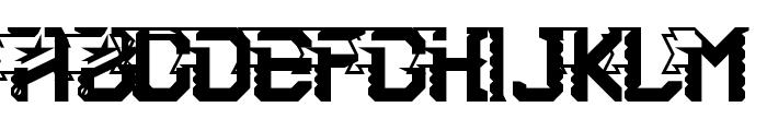 2nd Brigade Regular Font UPPERCASE
