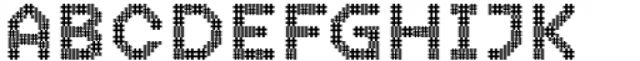 2nd Dance Floor Patchwork Font UPPERCASE