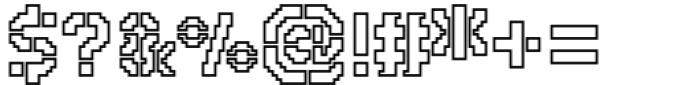 2nd Dance Floor Stencil Outline Font OTHER CHARS