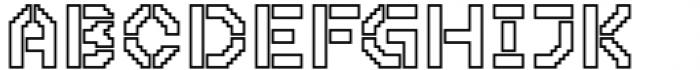 2nd Dance Floor Stencil Outline Font UPPERCASE