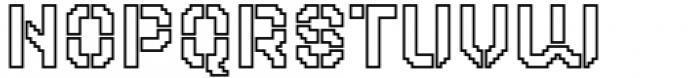 2nd Dance Floor Stencil Outline Font LOWERCASE