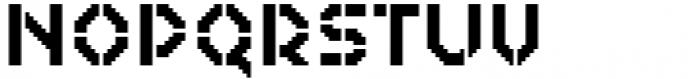 2nd Dance Floor Stencil Font UPPERCASE