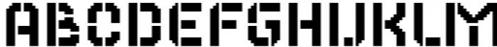 2nd Dance Floor Stencil Font LOWERCASE