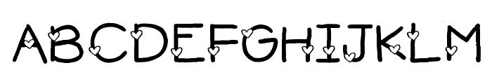2Peas Heart's Delight Font UPPERCASE