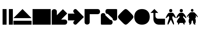 2TheLeft Dingbats Font LOWERCASE