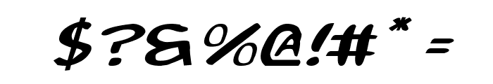 2Toon Expanded Italic Font OTHER CHARS