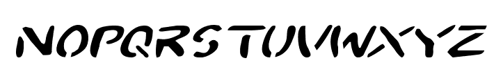 2Toon Expanded Italic Font LOWERCASE