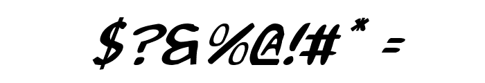 2Toon2 Italic Font OTHER CHARS