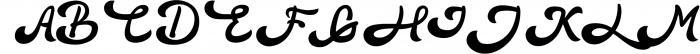 3 in 1 Premium script font 2 Font UPPERCASE
