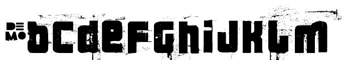 3 theHard way RMX-Regular DEMO Font LOWERCASE