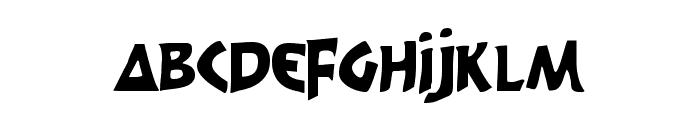 300 Trojans Condensed Font UPPERCASE