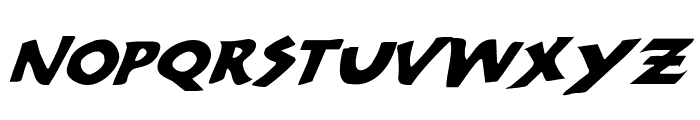 300 Trojans Expanded Italic Font LOWERCASE