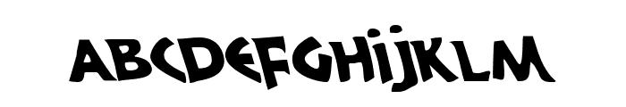 300 Trojans Leftalic Font LOWERCASE