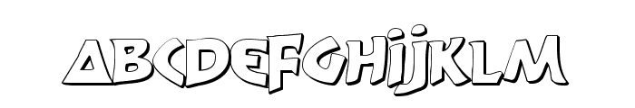 300 Trojans Shadow Font UPPERCASE