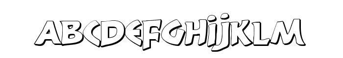 300 Trojans Shadow Font LOWERCASE