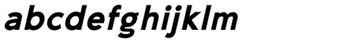 35-FTR Extra Bold Oblique Font LOWERCASE
