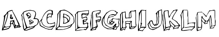 3Dumb Pro Font UPPERCASE