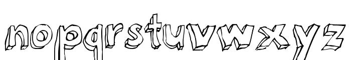 3Dumb Pro Font LOWERCASE