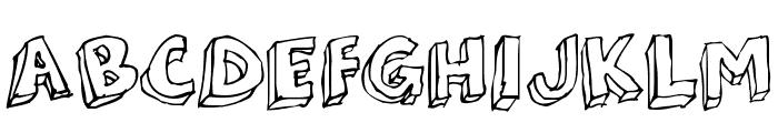 3Dumb Font UPPERCASE