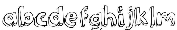 3Dumb Font LOWERCASE