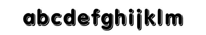 3d Font LOWERCASE