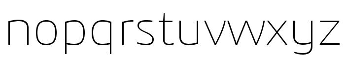 3ds-ExtraLight Font LOWERCASE