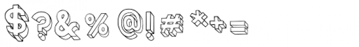 3D Blocky Font OTHER CHARS